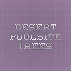 Desert Poolside Trees