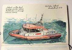 Waiheke Island Coast Guard #sketch #sketching #sketchbook #sketchwalker #travelsketch #travelsketcher #urbansketchers #waiheke #waihekeisland #auckland #newzealand #visitauckland #PureNewZealand #NZMustDo