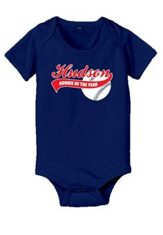Personalized baseball rookie of the year baby onesie, 1st birthday boy onesie on Etsy, $17.78 CAD