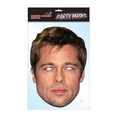 """Laadukas ja täysin aidon näköinen valokuvasta tehty pahvinen muotoon leikattu """"Brad Pitt"""" naamio silmäaukoilla ja joustavalla kiinnitysnarulla. Koko noin 28cm x 20cm. Järjestä kunnon julkkisbileet ja hommaa naamarit kaikille!"""
