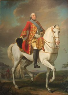 Louis-Philippe, Duc D'Orléans, Saluting His Army on the Battlefield, 1757, by Alexander Roslin