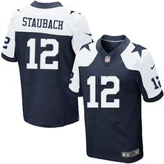 Nike Elite Roger Staubach Navy Blue Men's Jersey - Dallas Cowboys #12 NFL Throwback Alternate