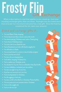 interesting christmas party gift exchange idea   Fun idea for a white  elephant gift exchange or