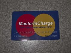 MasterInCharge Card for Zion Mall Relief Society Activity
