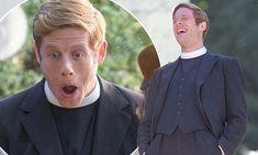 James Norton cuts a dapper figure in clerical costume for Grantchester