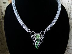 Swarovski Crystal Flower Persian Chainmaille