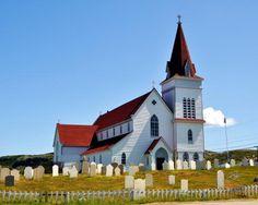 """"""" St. Andrews Anglican Church, Fogo   Fogo Island, Newfoundland."""