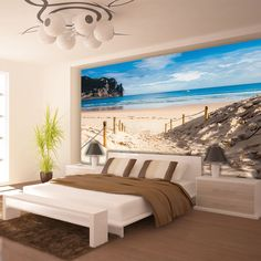 Easy to apply wallpaper murals Beach Path by the Sea Beach Wallpaper, Room Wallpaper, Photo Wallpaper, Wallpaper Murals, Bedroom Murals, Wall Murals, Disney Mural, Poster Xxl, Poster Mural