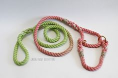 "Custom order for a Martingale Leash Combo in ""Watermelon"""