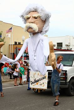 2010-07-05 Mark Twain Parade Puppet - Parade Day photos by Anna Anderson - July 4th 155 by DoNight, via Flickr