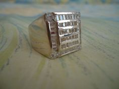 Mans Modernist  HEAVY STERLING SILVER 13.4 by CollectibleKeepers, $50.00