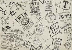 """Hand-letterinf for """"The World is Tired of Hate"""""""