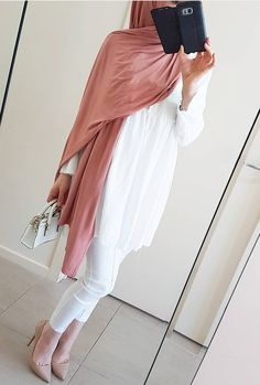 Muslim Fashion, Modest Fashion, Girl Fashion, Fashion Outfits, Modest Wear, Modest Outfits, Cute Outfits, Modele Hijab, Hijab Fashion Inspiration