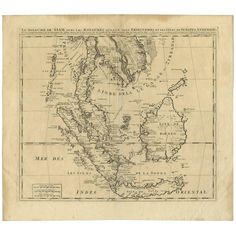 Henri-Abraham Chatelain - Antique Map Of Southeast Asia H. Map Of American States, Denmark Map, Strait Of Malacca, Andaman Islands, Asia Map, World Map Art, Phnom Penh, Antique Maps, Borneo