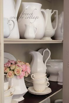 FRENCH COUNTRY COTTAGE: Whites & Gray