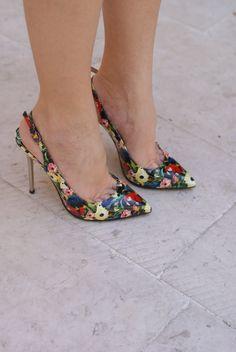 Michele Muzi floral heels