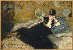 Edouard Manet | L'Automne ou portrait de Mery Laurent (Anne Rose Louviot dite (1849-1900) | Images d'Art