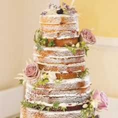 Have you chosen your wedding cake yet?  We love the simplicity of this naked Victoria sponge decorated with fresh flowers.. don't you? www.wed2b.co.uk
