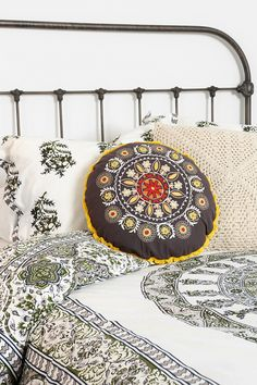 Magical Thinking Round Embroidered Pillow - Urban Outfitters