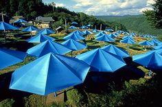 umbrellas blue