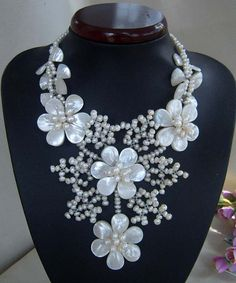 bridesmaid giftBead NecklaceBeaded JewelryPearl by audreyjewelry, $43.00