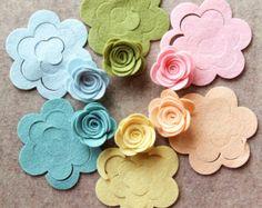 Misto lana Dream - media 3D laminati Rose - Die 12 taglio lana feltro fiori - rosette smontati