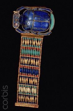 King Tut's bracelet with scarab   Egyptian Museum, Cairo
