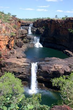A gorgeous multi-step waterfall with plunge pools. Mitchell Falls, Western Australia.
