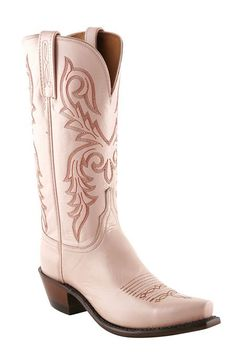 Womens Lucchese 1883 Pink Cowboy Boot