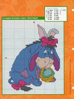 Easter Eeyore cross stitch