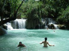 kuang si falls Luang Prabang, Laos, Centre, Waterfall, Photographs, Bear, Travel, Outdoor, Outdoors