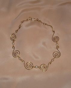 Boadicea Celtic Queen Gold Spirals Necklace by MayroseTreasures, $100.00 NEW PICTURE!