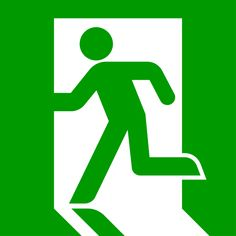 "The post-1987 ISO standard exit sign (""running man"") designed in 1982 by Yukio Ota. It can be seen in Japan, South Korea, China, Hong Kong, Taiwan and Thailand; it is now standard in the UK (BS 5499), Australia, New Zealand, New York City (LL26), Norway and both Chinas. Note that actual implementations vary slightly"