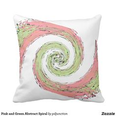Pink and Green Abstract Spiral