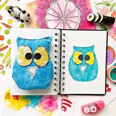 When I moved to the US, I didn't have much to do. So I taught myself to sew! I was really into sewing toys and thus this Owly… Gouache Painting, Sewing Toys, Story Time, Things To Think About, Seas, Austria, Chill, Study, Paintings