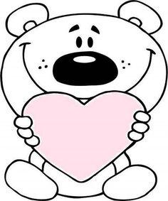 مدل نقاشی کودکانه و طرح های رنگ آمیزی فانتزی و زیبا Teddy Bear Coloring Pages, Heart Coloring Pages, Animal Coloring Pages, Coloring Pages To Print, Free Printable Coloring Pages, Coloring Sheets, Coloring Pages For Kids, Free Coloring, Coloring Books