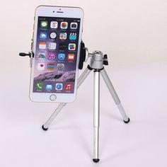ミニ三脚用iphone 6 s 7 samsung xiaomi電話付き電話クリップ三脚スタンドマウントnikonのためのgopro 5 4セッションyiカメラ