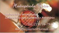 Michele Freitas Artes: Cartão de visitas Madrepérola Artes