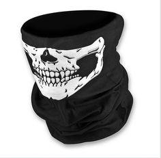 Wish | Magic Scarf Seamless Veil Outdoor Sport Cycling Mask Pirate Half Face Skull Face Shield (Cor: Preto)