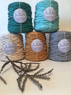 This beautiful soft cotton is recycled cotton and fair trade 3 Strand Twist, Macrame Supplies, Hand Embroidery Art, Co Design, Macrame Cord, Cotton Rope, Wall Hangings, Fair Trade, Fiber Art