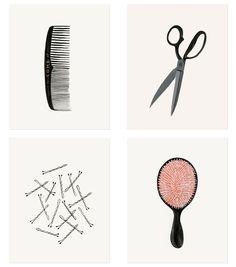 beauty tool illustration // Rifle Paper Co. Hair Quotes, Rifle Paper Co, Artsy Fartsy, Artwork, Illustration Art, Images, Branding, Graphic Design, Art Prints