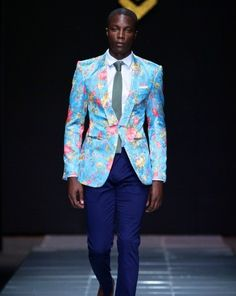 Only great men can wear floral print jackets and yet still maintain their masculinity. Great blazers and suits presented by Sheria Ngowi rocked well on the runway of MBFWA 2013. Enjoy. To view all runway action, designers and model stories at #MBFWA2013 click here -> Mercedes Benz Fashion Week Africa 2013.   Pictures by SDR