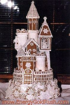 Gingerbread Castle.  If you know who built this, I would like to give them credit!!  .:. .:. but, either way, come visit me at http://snow.EnergyGoldRush.com