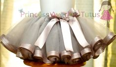 diy tutu with ribbon trim... Make and then donate to church for kids... Hmmm