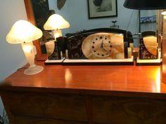 Marble Deco Clock Set   $400  Rubbish Designer Vintage Finds Dealer #3501  Lucas Street Antique Mall 2023 Lucas Dr. Dallas, TX 75219  Like us on Facebook: https://www.facebook.com/pages/Rub