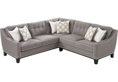 Shop for a Cindy Crawford Home Madison Place Slate 2 Pc Sectional at Rooms To Go Find