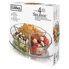 Libbey Selene Sectional Serving Set