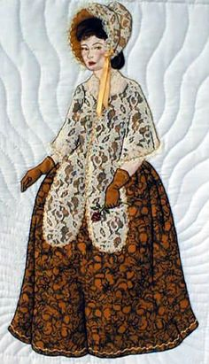 """#15 """"Bonnet Girl Relatives & Friends"""" Olivia $6.50. Olivia has a matching shawl and bonnet with a yellow ribbon trim."""
