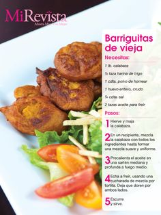 Receta: Barriguitas de Vieja - Puerto Rico pumpkin fritters ... side dish or dessert or after school snack.  Yum