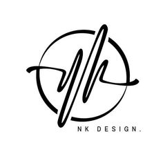 a logo design about NK - my design - Education Monogram Design, Monogram Logo, Lettering Design, Wedding Logo Design, Wedding Logos, Graphic Design Company, Modern Logo Design, Marketing Logo, Marketing Digital